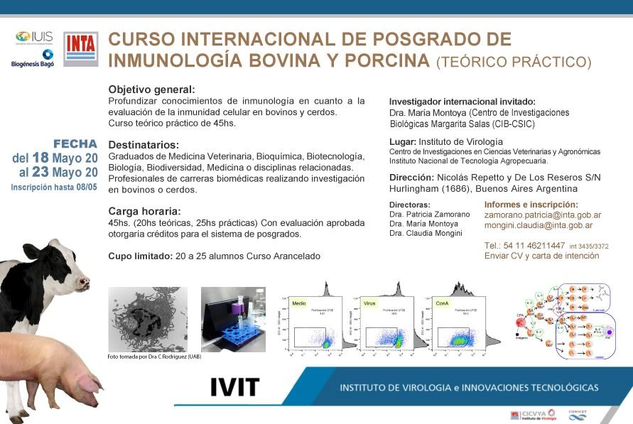 Curso Internacional de Inmunologia bovina y Porcina