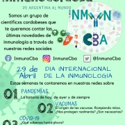 Flyer Dia de la inmunologia